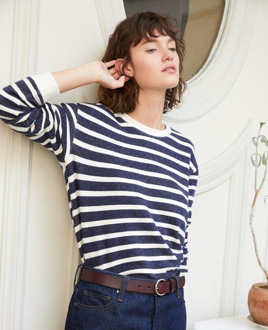 Striped sweatshirt White