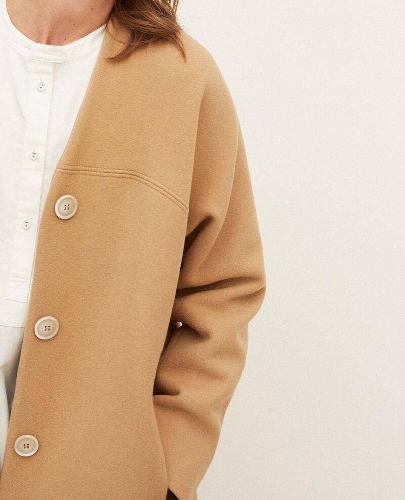 Collarless coat Tannin Gilhard
