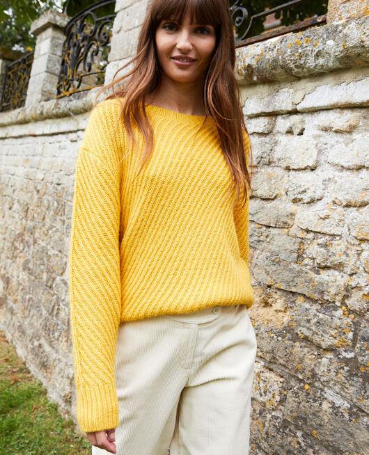 Rib knit jumper SPICY MUSTARD