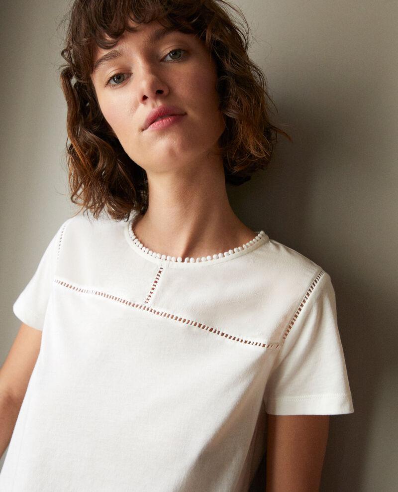 Bimaterial T-shirt White Gianni