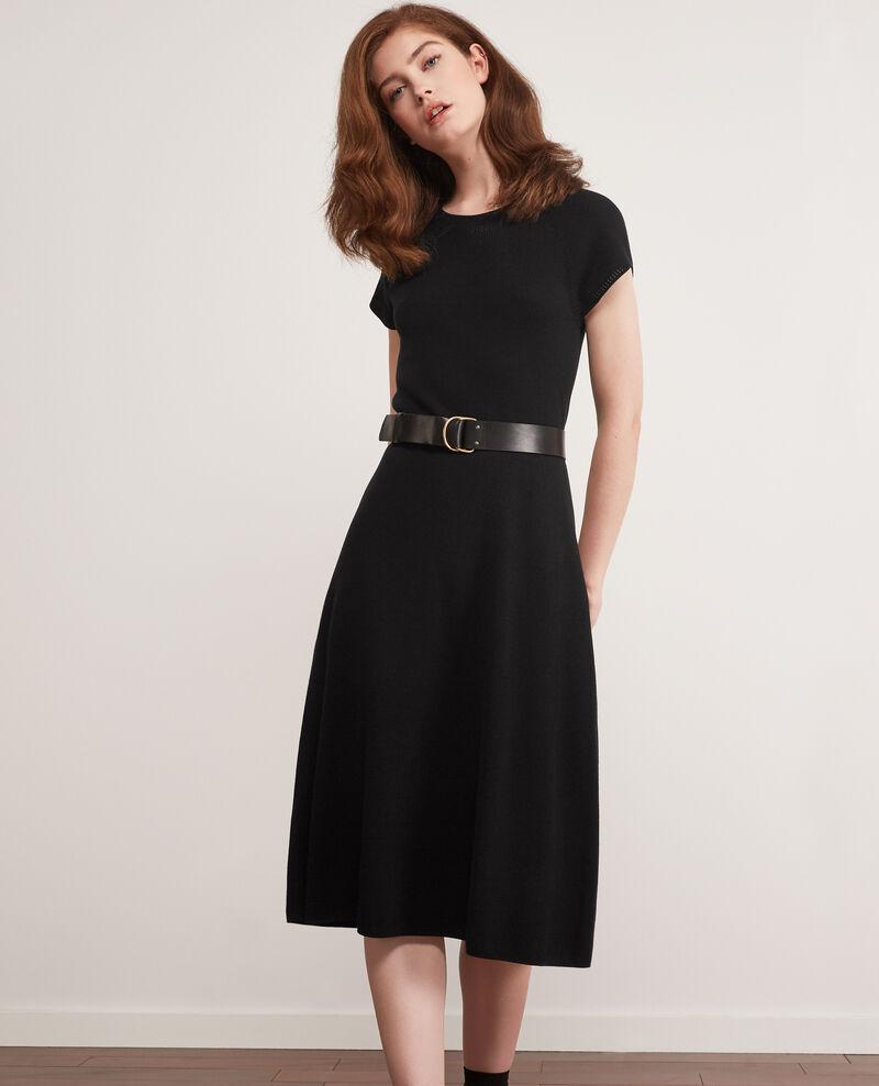 Seamless knitted dress Noir Dema