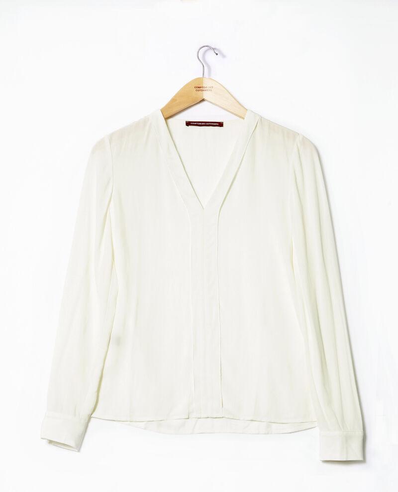 V-neck blouse White 9ganet