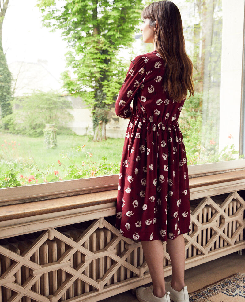 Printed shirt dress Tulip cabernet Jaradja