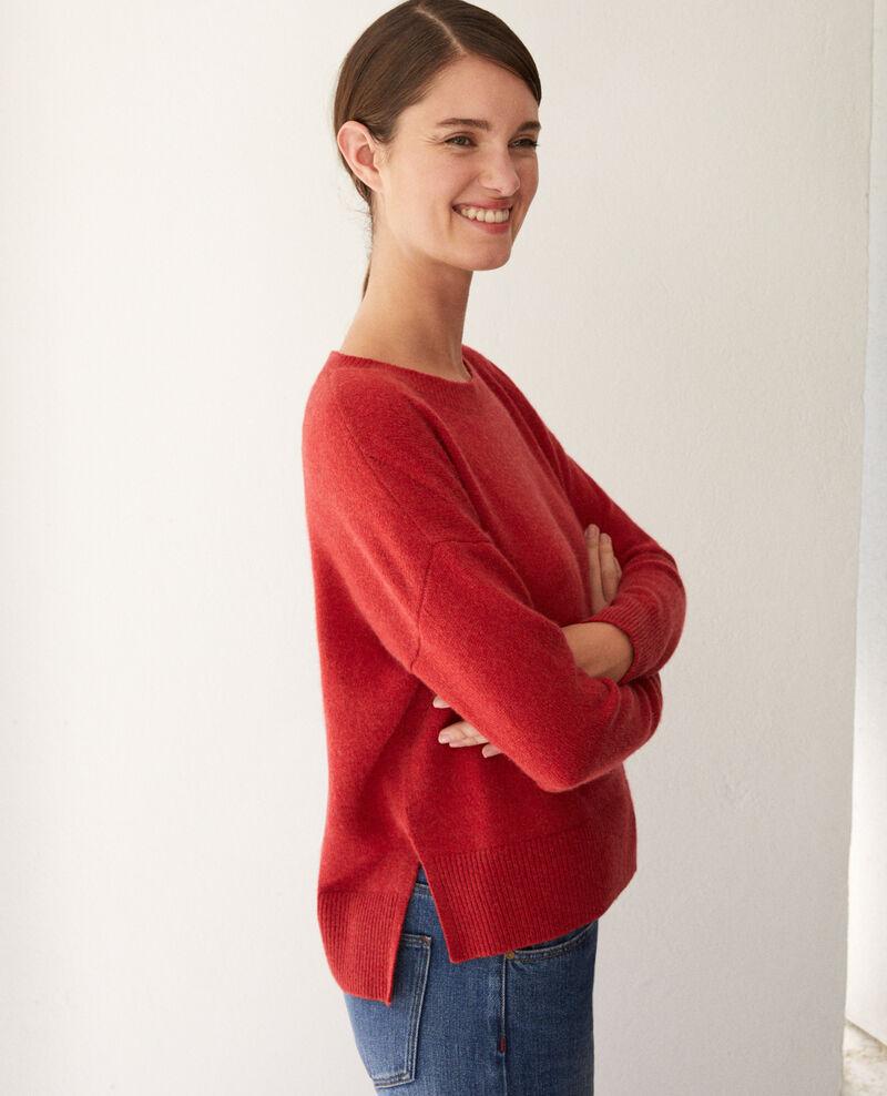 Cashmere jumper Pompeian red Geraldine