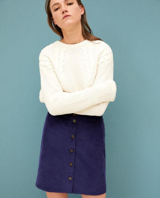 Ribbed corduroy skirt MEDIEVAL BLUE