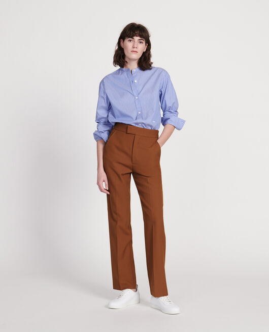 Smooth wool straight trousers MONKS ROBE