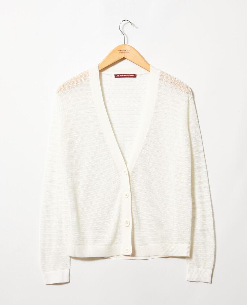 Openwork knit cardigan Off white Icardi