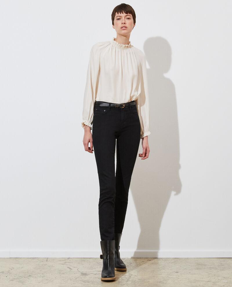 LILI - SLIM - Black stretch jeans Noir denim Nanblack