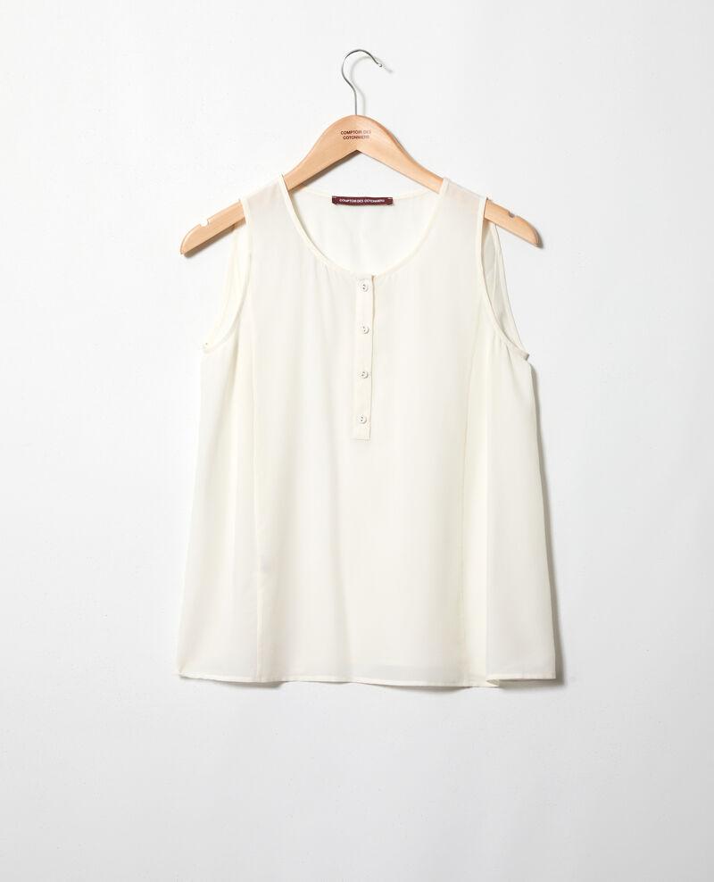 Silk vest Off white Idiane
