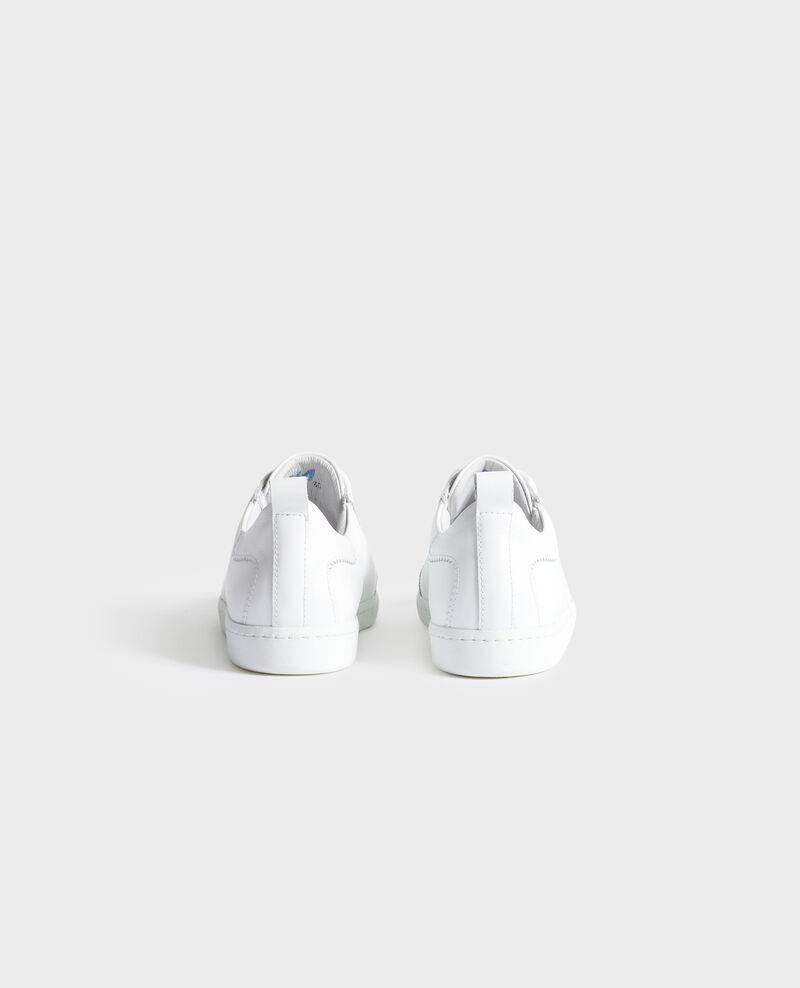 Lace-up leather sneakers Brilliant white Nouveau