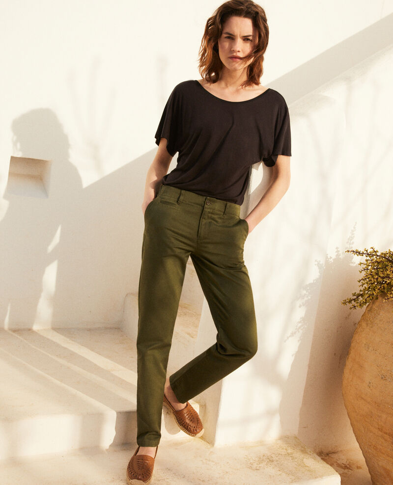 Canvas trousers Cheng olive Irouba