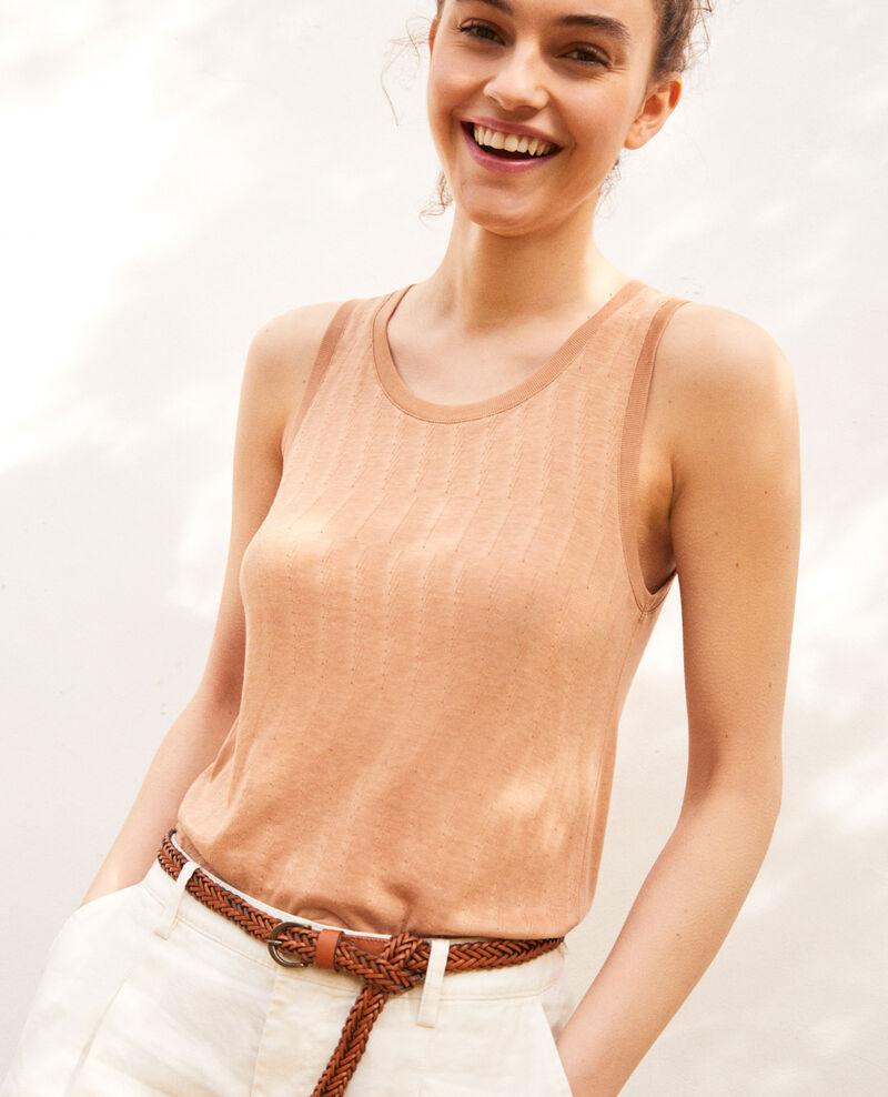 Soft-touch vest Caramel beige Irimi