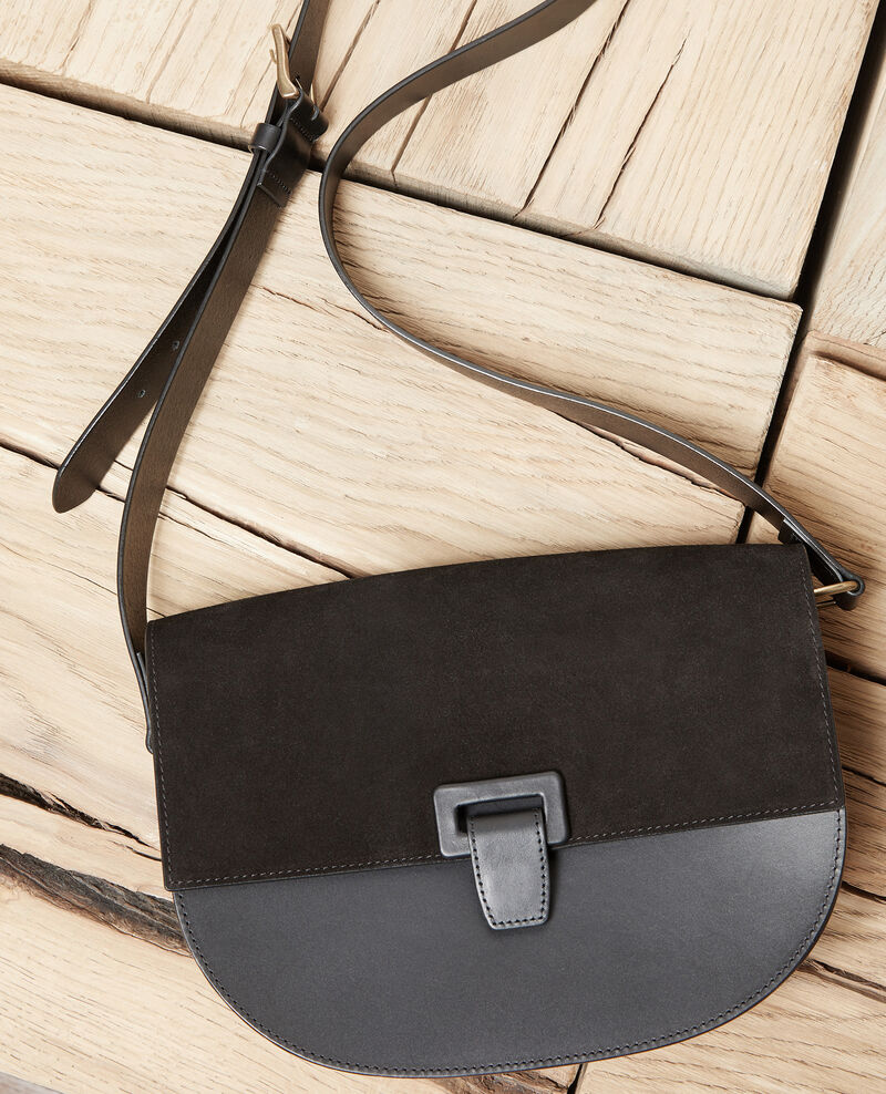 Large half-moon bag Noir Jordana