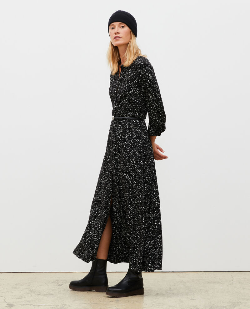Printed maxi dress Print constellation black Meursac