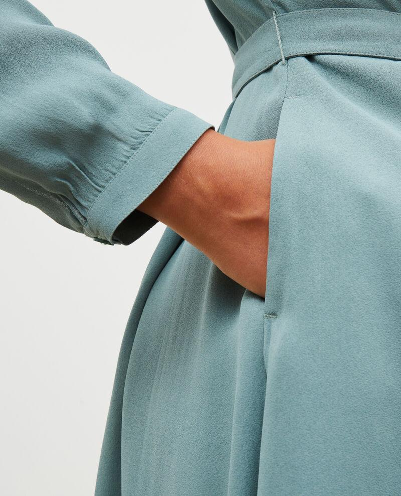 Pleated dress with belt  Treillis Marcilia