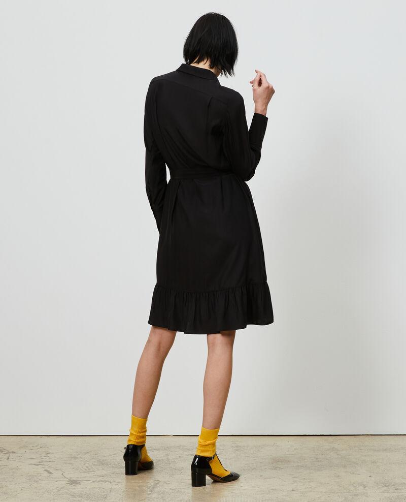 Silk shirt dress Black beauty Nishiga
