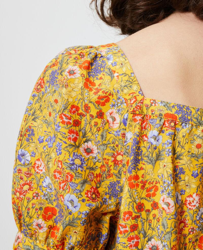 Short cotton and silk dress Prairie spectra Neffa