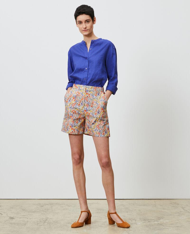 Printed high-waisted shorts Prairie gardenia Nassy
