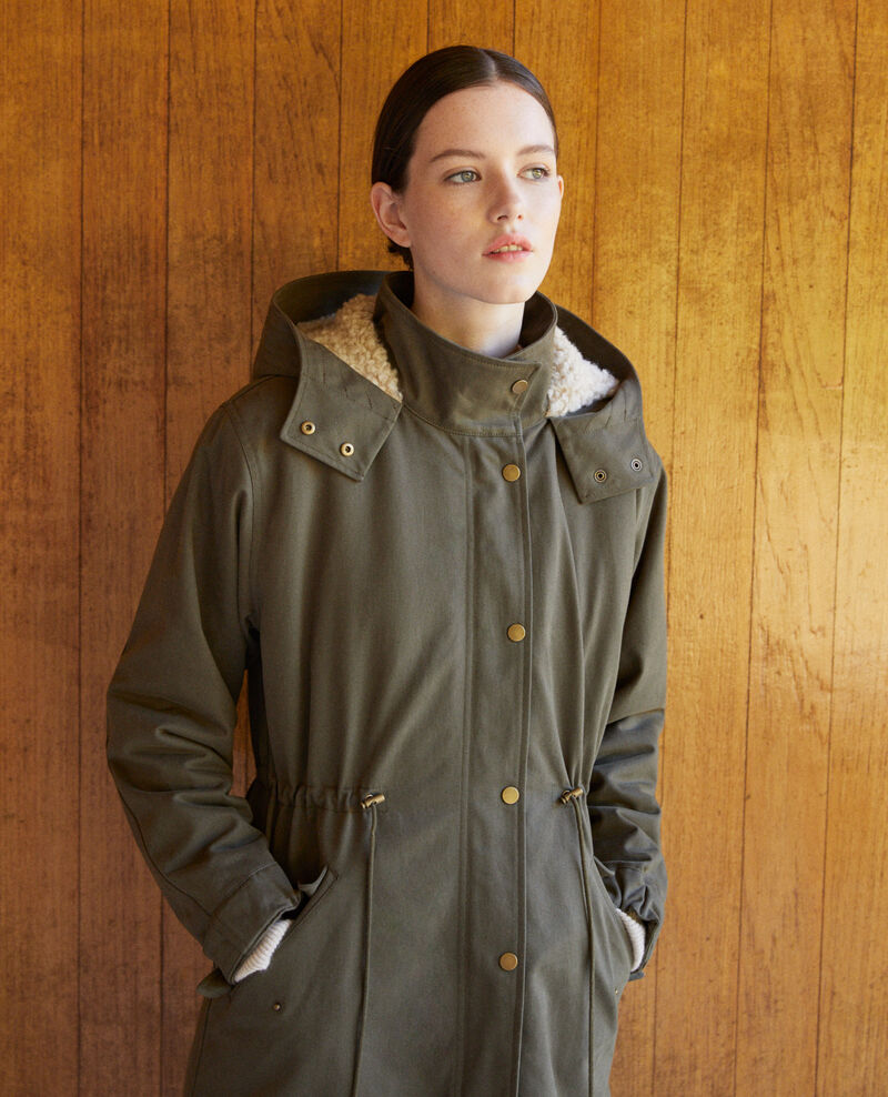 Hooded parka Green Ganache
