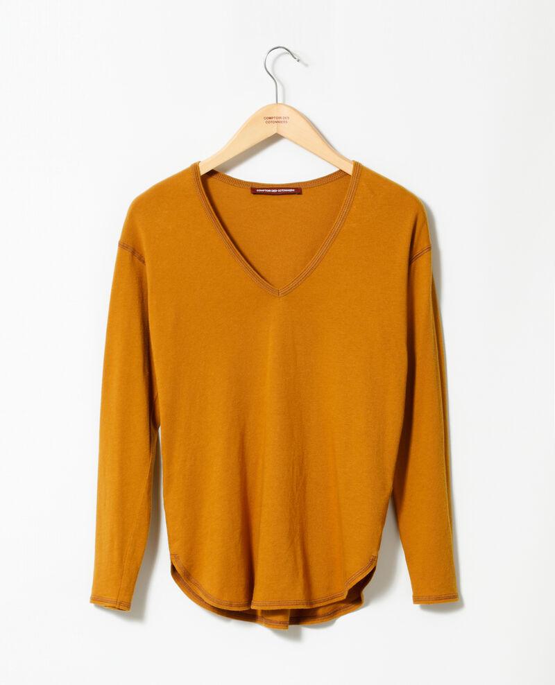 Cotton T-shirt Yellow Gonia