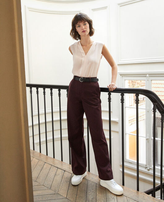 Loose fit trousers Brown
