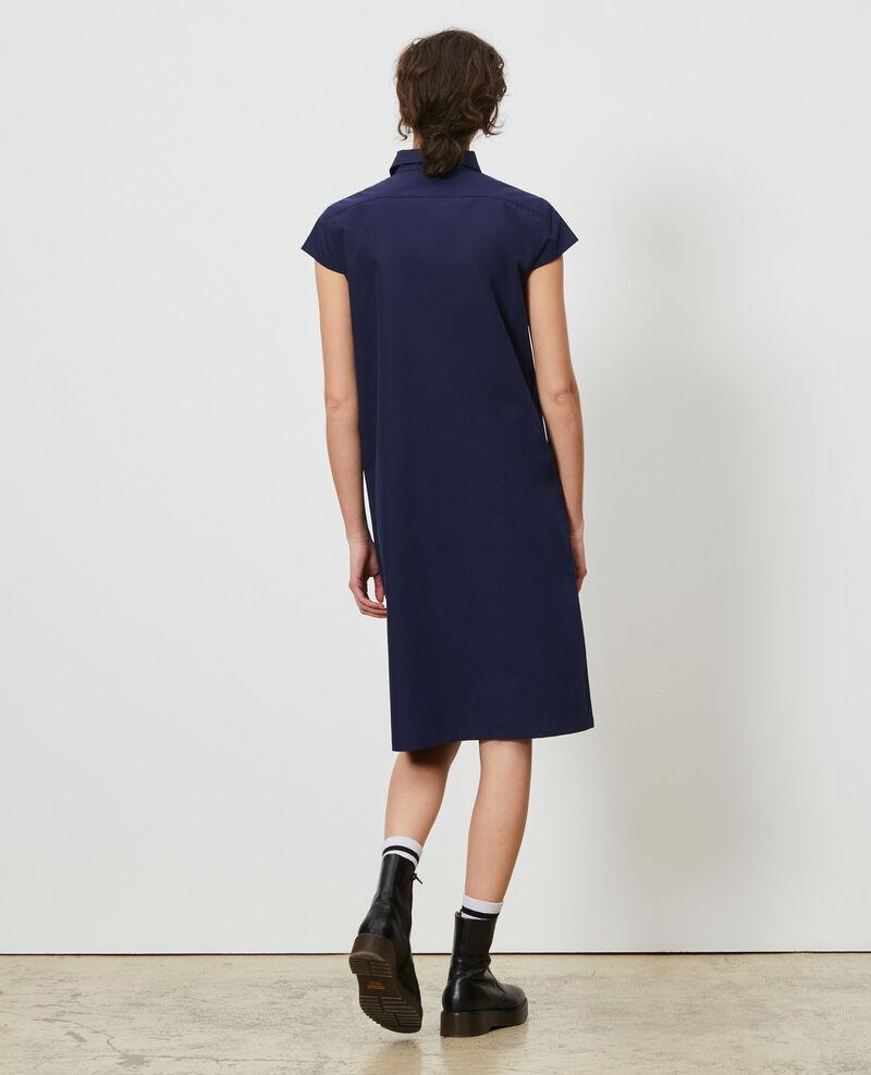 Cotton shirt dress Maritime blue Lelumba