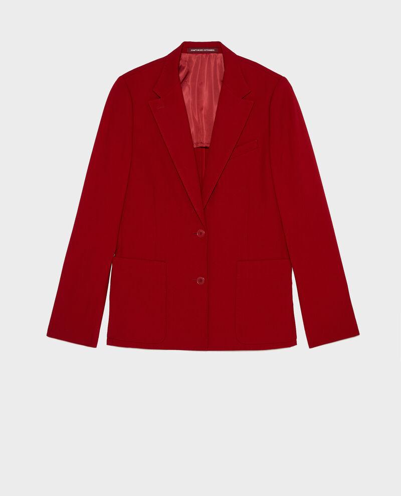 Fitted wool boyfriend blazer Royale red Mesanger
