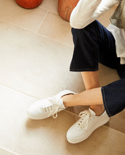 bbd08b28467e Platform sneakers White