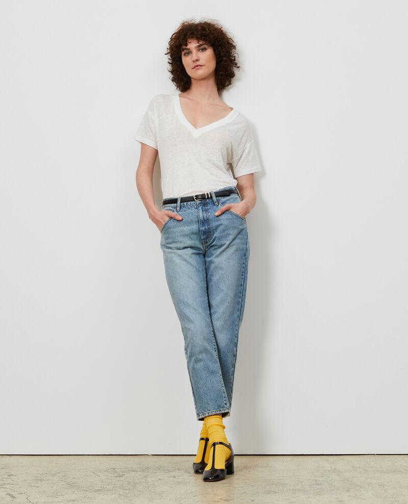 SLOUCHY - Distressed 7/8 jeans  Vintage wash Neronage