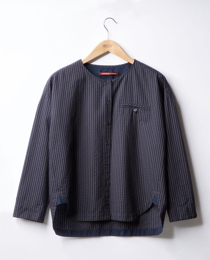 Striped shirt Navy/off white stripes Falaise