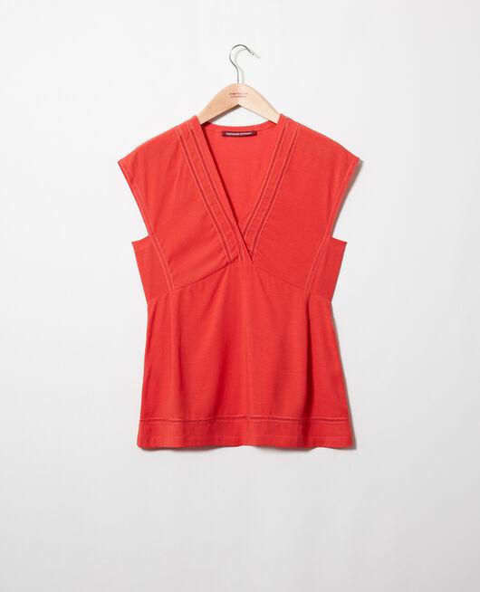 Embroidered blouse MOLTEN LAVA