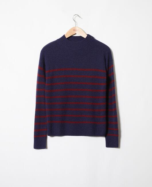 Striped cashmere jumper EVENING/CABERNET
