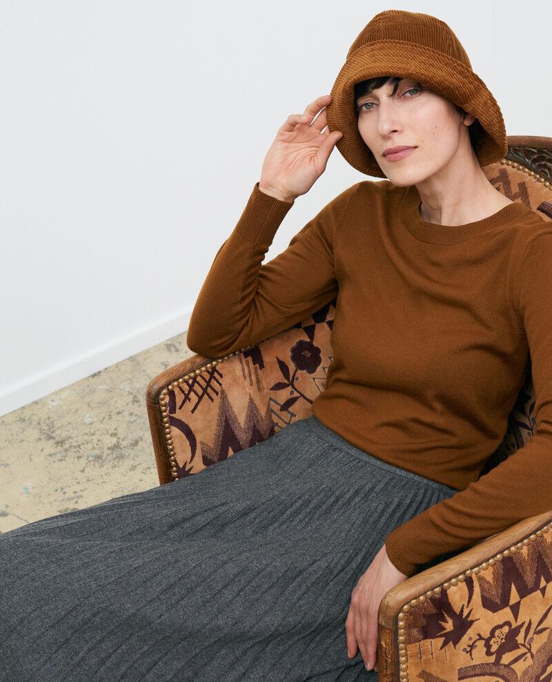 Round neck merino wool jumper Monks robe Passy