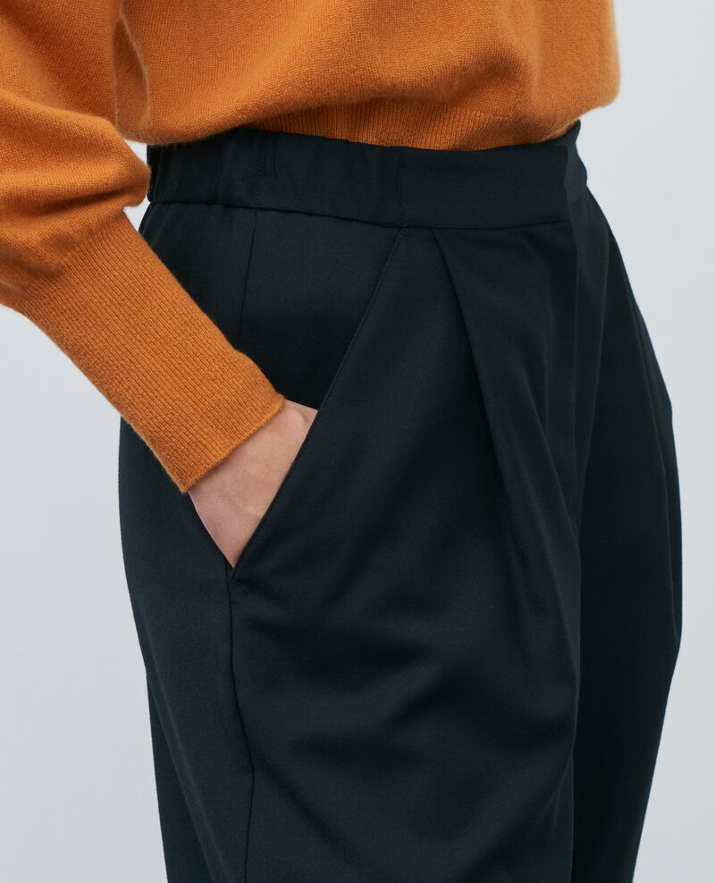 SYDONIE - BALLOON - tight-fit trousers Black beauty Paluges