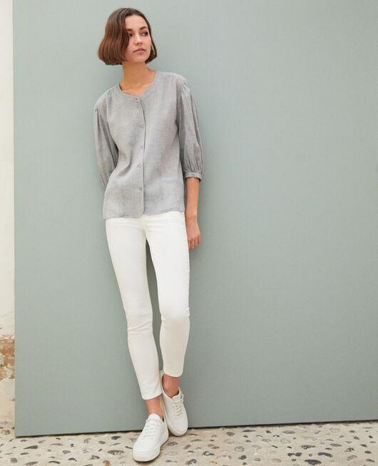 7/8 skinny jeans BLANC
