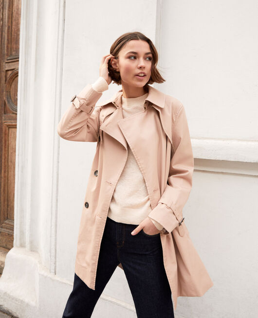 Timeless trench coat PINK BEIGE