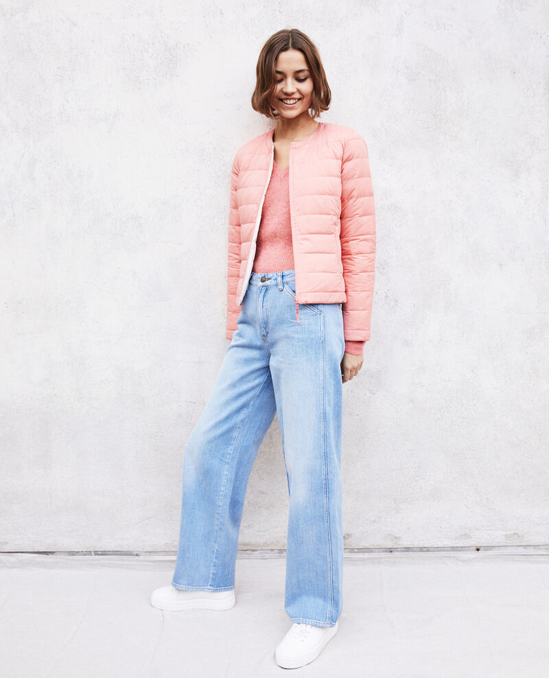 Iconic Mademoiselle Plume down jacket Salmon pink/champagne Illopou