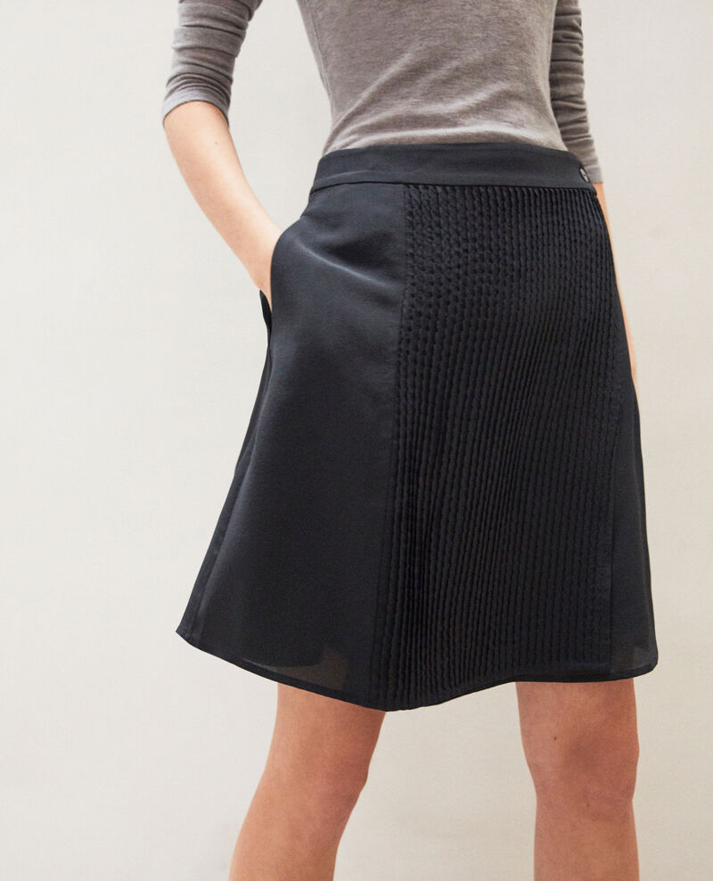Mini skirt with buckle Noir Itea