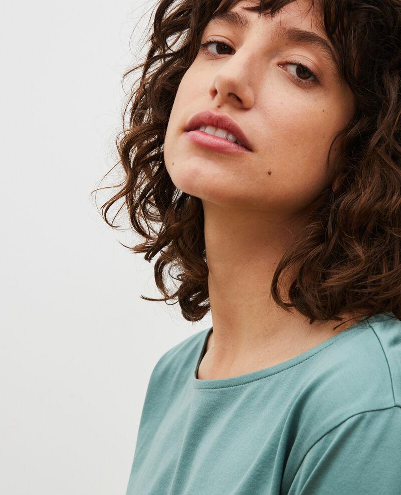 Boatneck long-sleeve cotton t-shirt Treillis Lotel