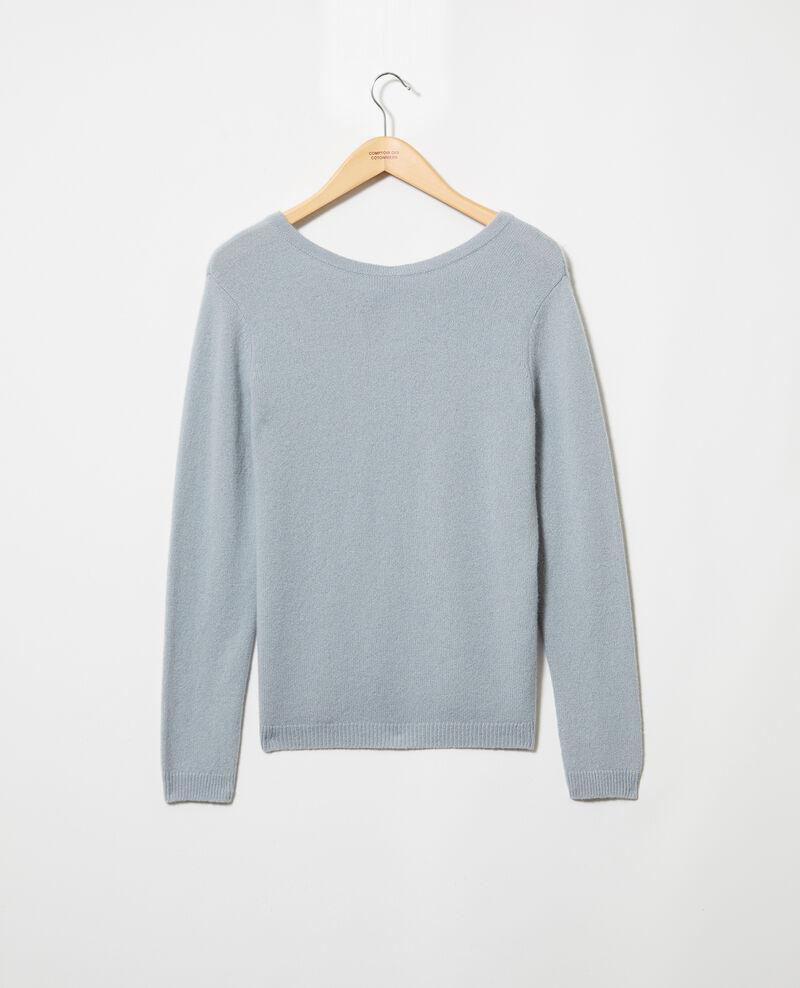 Round neck cashmere jumper Blue mirage Ixela