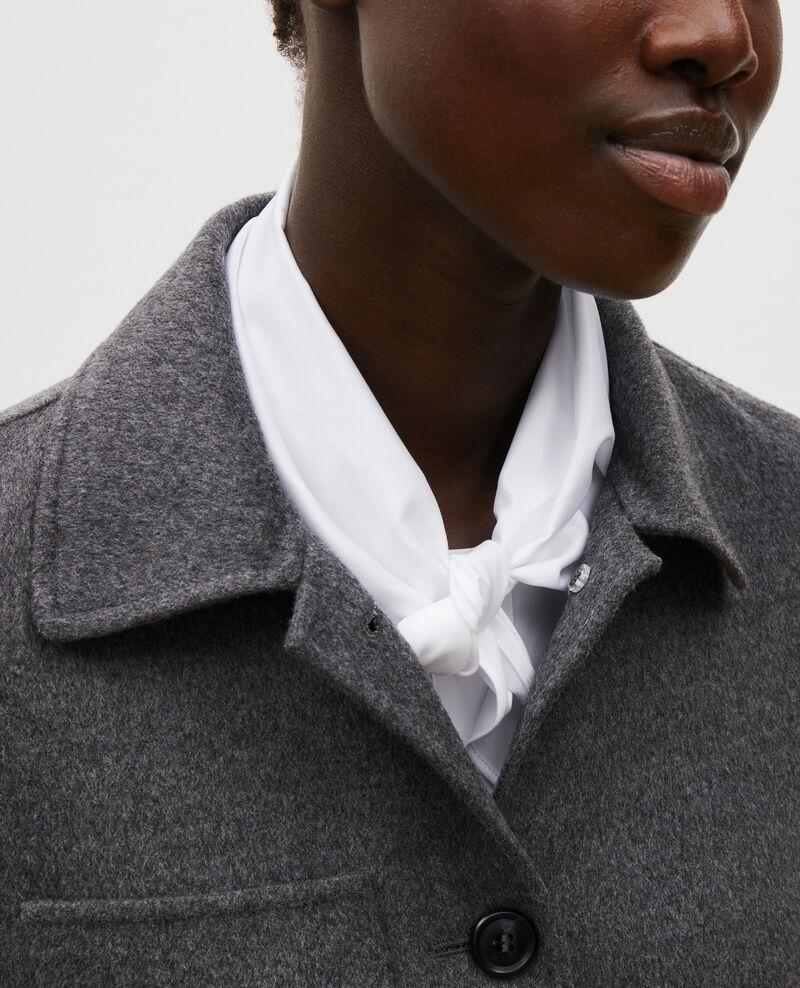 Double-sided wool jacket Medium grey melange Mauguio