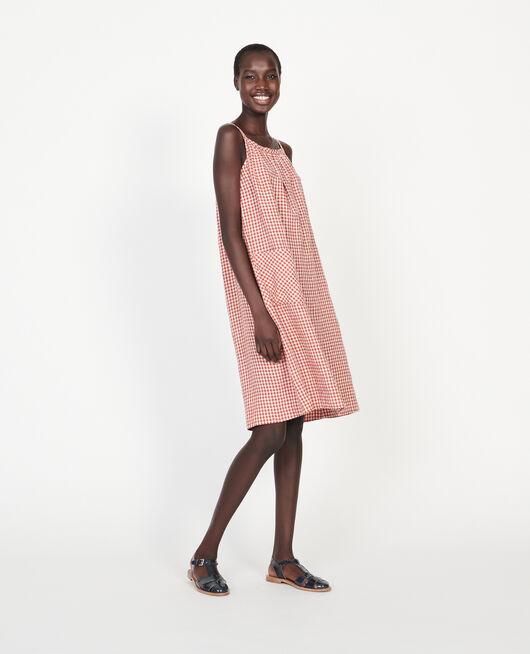 Cotton dress VICHY KETCHUP BUTTERCREAM