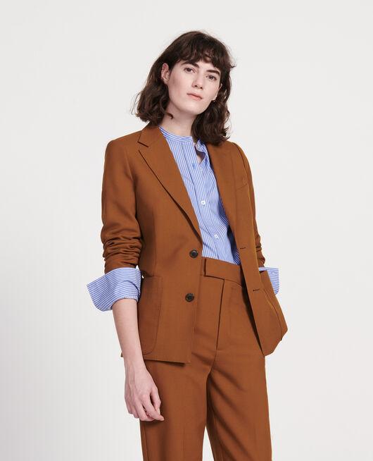 Lightweight smooth wool blazer MONKS ROBE
