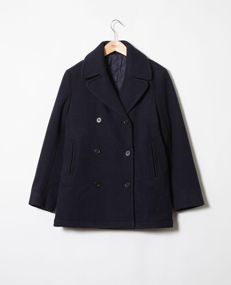 Double-breasted pea coat Dark navy Jouter
