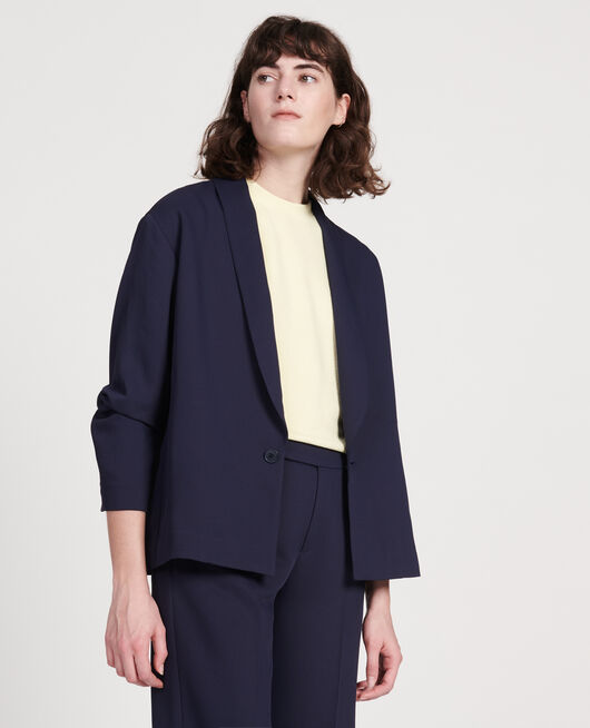Tuxedo-style jacket MARITIME BLUE