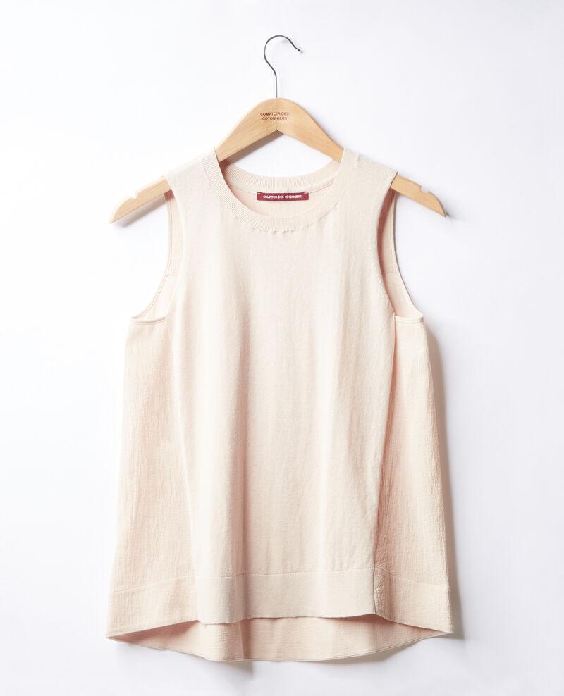 Bimaterial T-shirt Biscuit Fanon