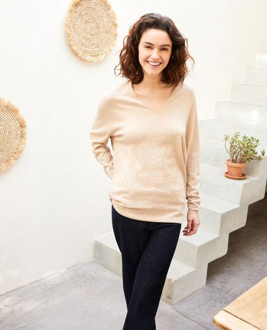 Cashmere blend jumper SAND BEIGE