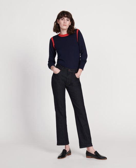 Straight dark denim jeans DENIM RINSE