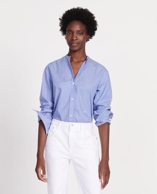 Oversize cotton shirt POPELINE STRIPE2