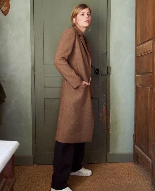 Mid-length coat HOUNDTOOTH